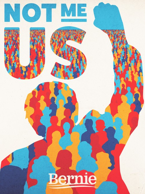 political campaign poster bernie sanders