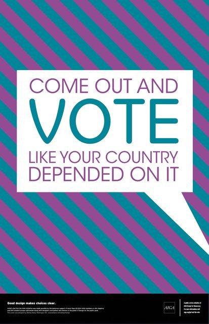 political campaign poster gotv sample1