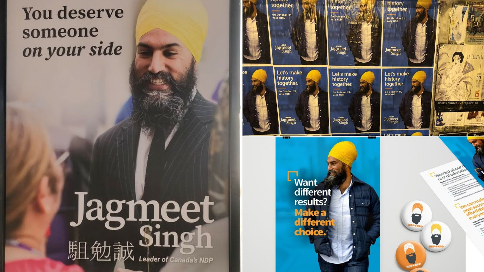 political campaign poster jagmeet singh