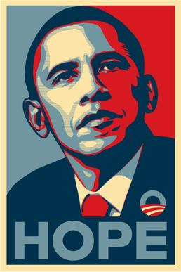 political campaign poster obama hope