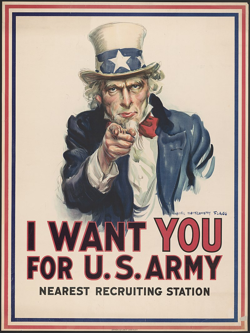 political campaign poster uncle sam army