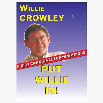 political campaign poster willie ireland candidate