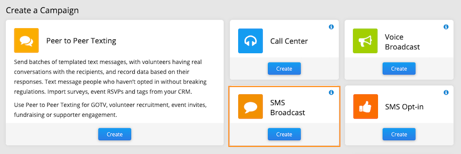 sms broadcast dashboard