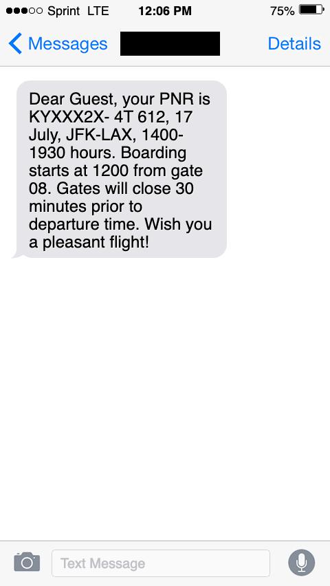 sms customer service reminder