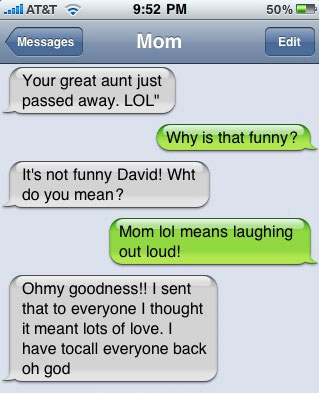 text messaging abbreviations acronyms