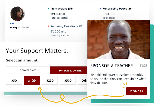 online donation tools classy