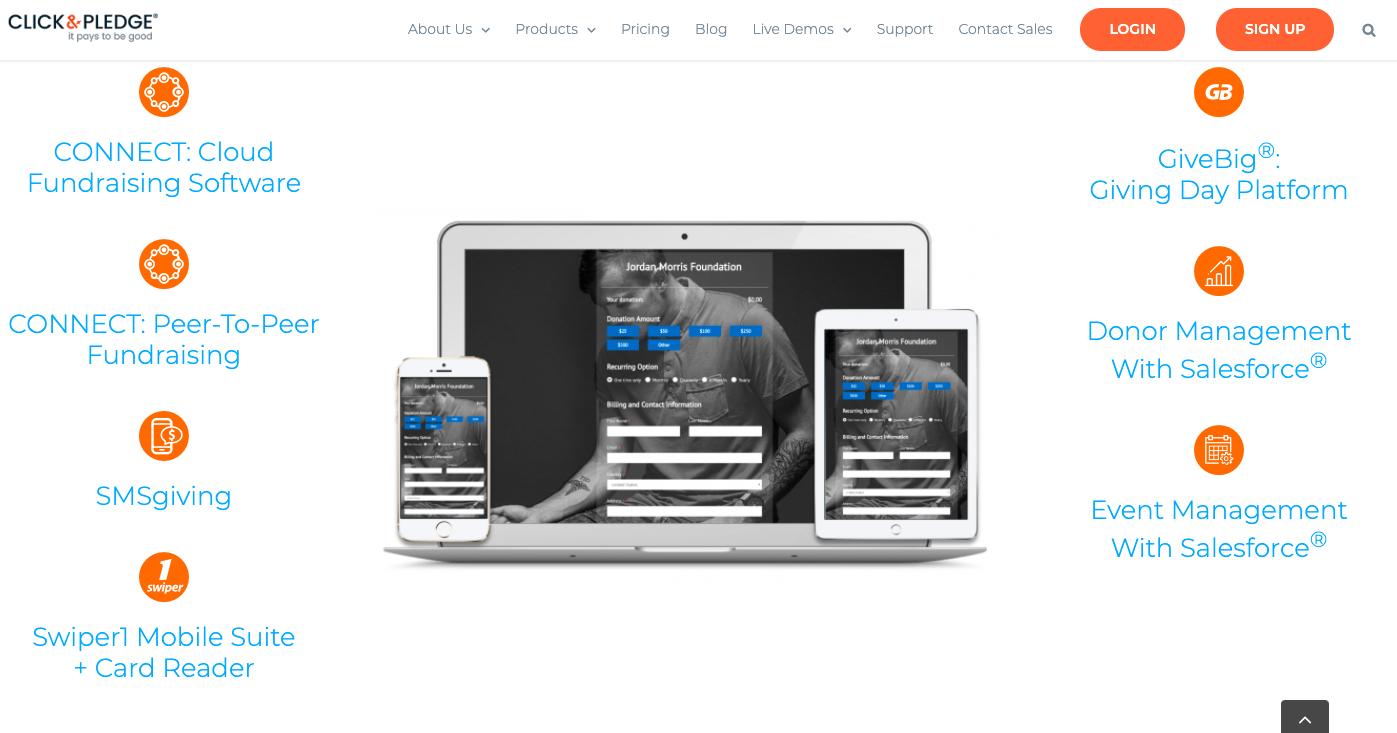 online donation tools click and pledge