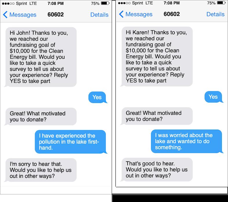 Reengaging through texting