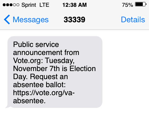ballot deadline broadcast text