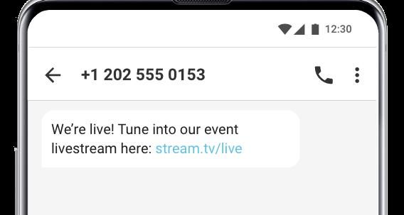 event reminder text message