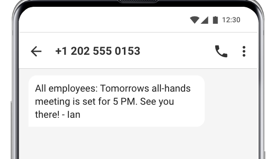 meeting text message reminder