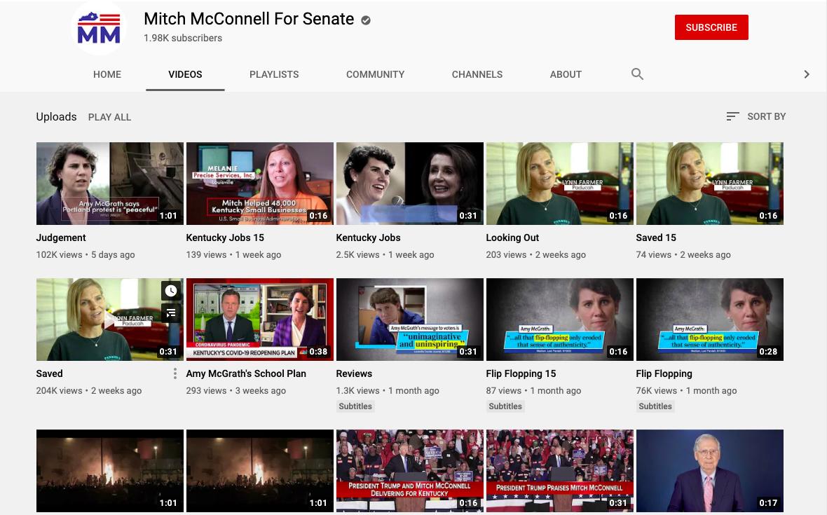 social media political campaign mitch mcconell