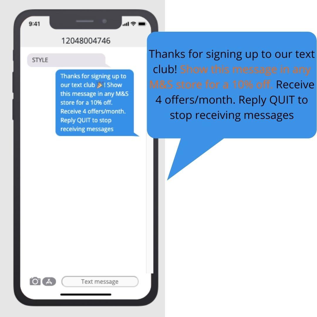 text blast marketing message value