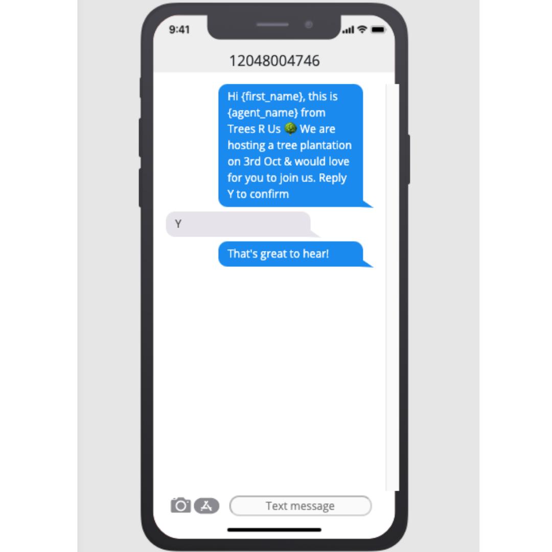 text blast marketing send invites