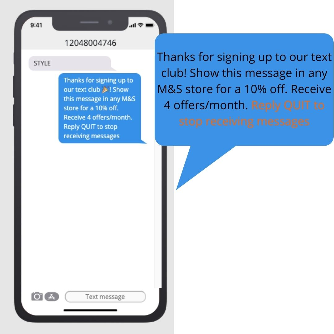 text blast marketing quit message