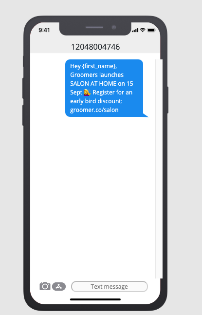 text blast marketing sale promotion example