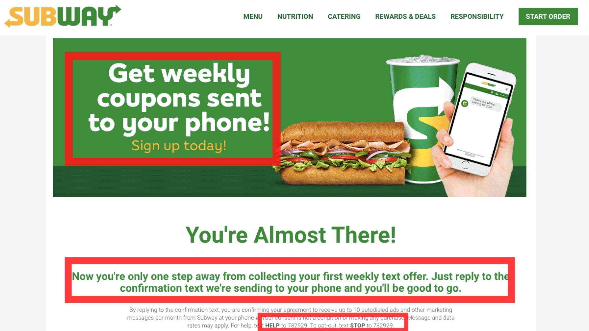 text blast marketing subway opt in