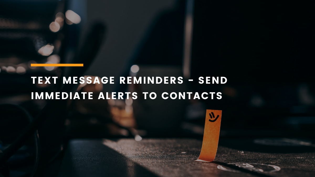 text message reminders feature