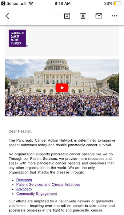 Nonprofit marketing email video