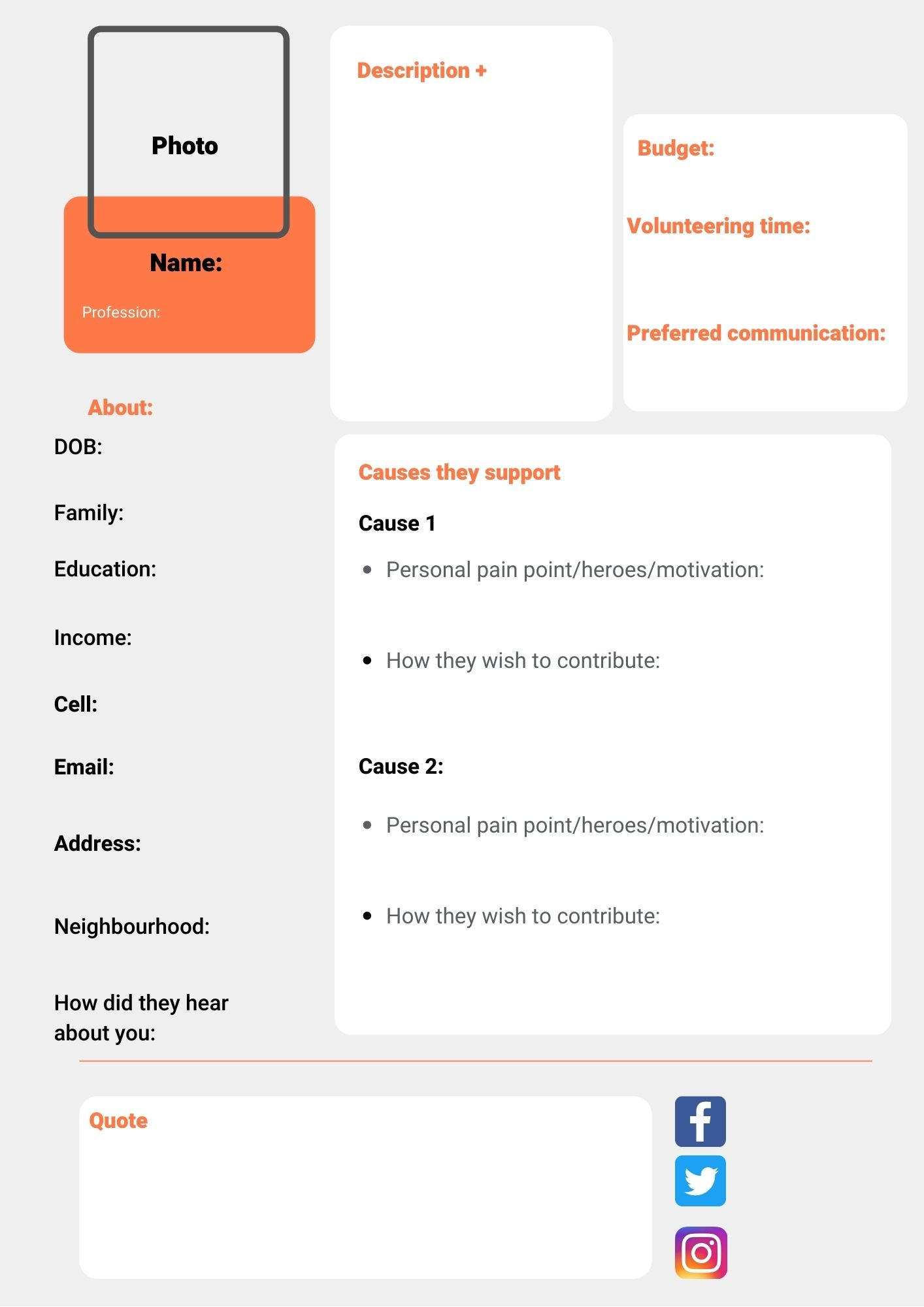 nonprofit-marketing-plan-template-donor-persona-form