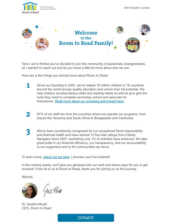email-marketing-for-nonprofits-room-to-read-example