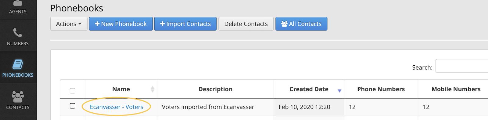 phone canvassing callhub ecanvasser contacts