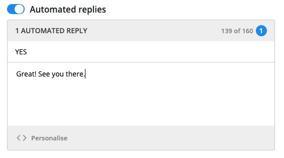 auto reply text