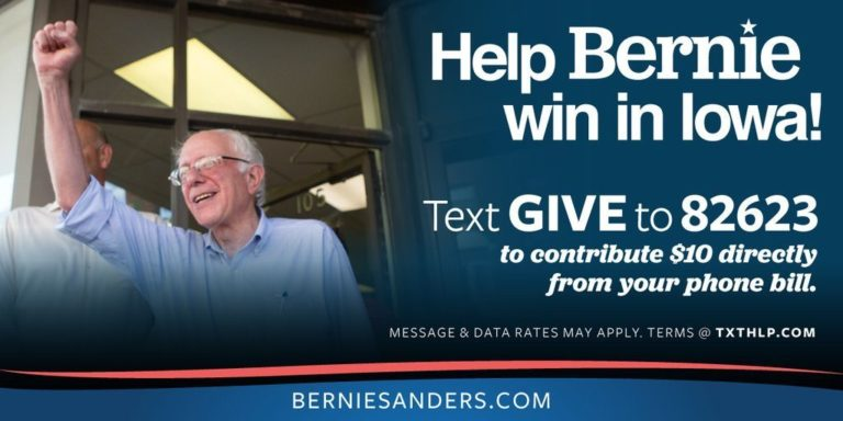 primary-campaign-bernie-fundraising-text-to-give