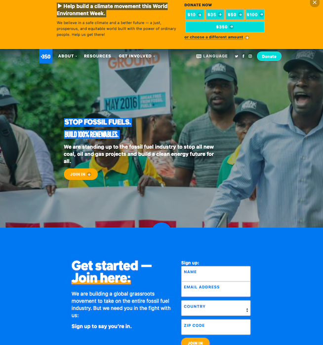 donor-acquisition-landing-page