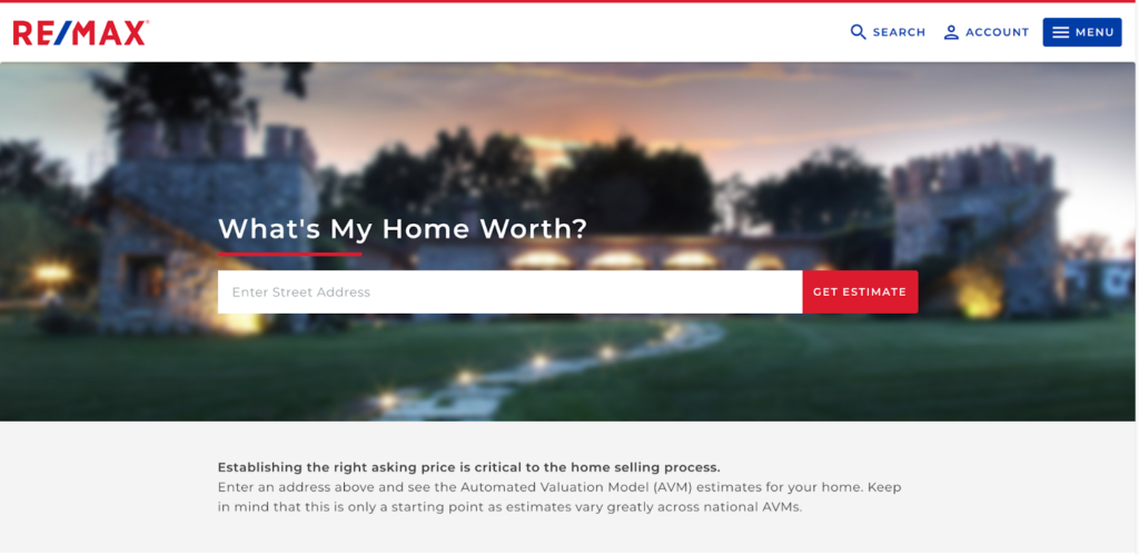 real estate marketing ideas home valuation example