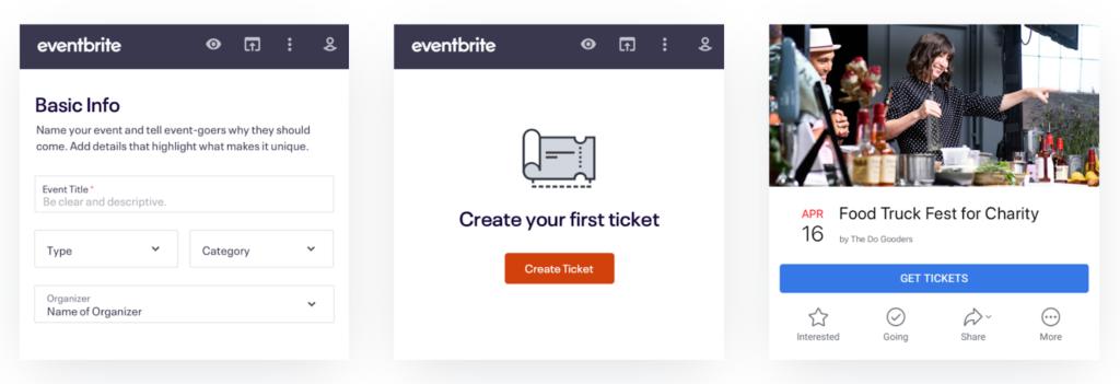 nonprofit event invitation event promotion site example