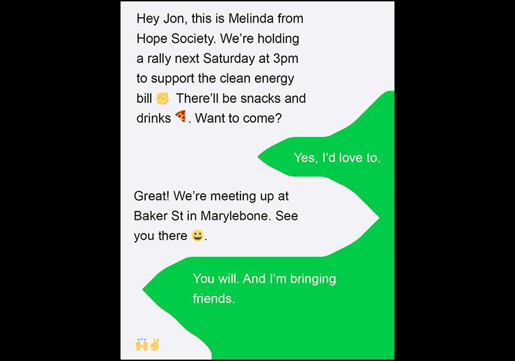 nonprofit event invitation events peer to peer texting
