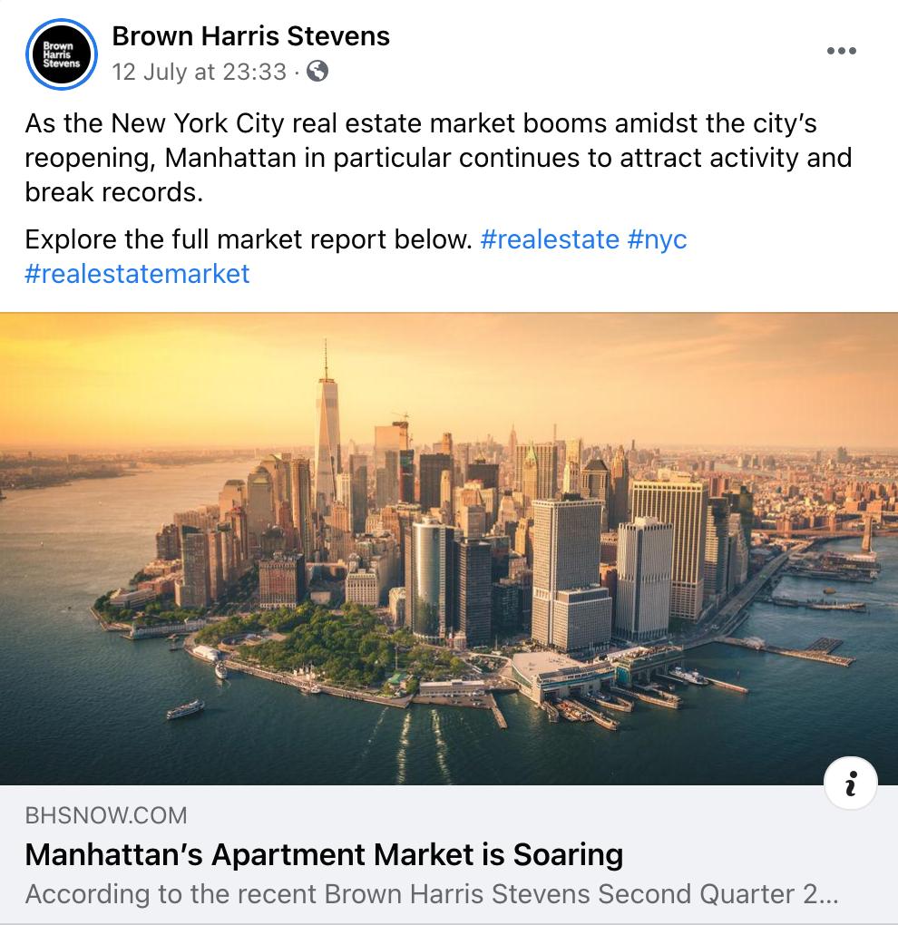 real estate social media industry news example