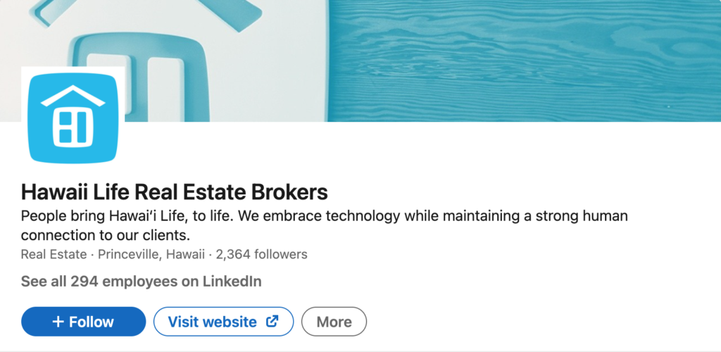 real estate social media linkedin example