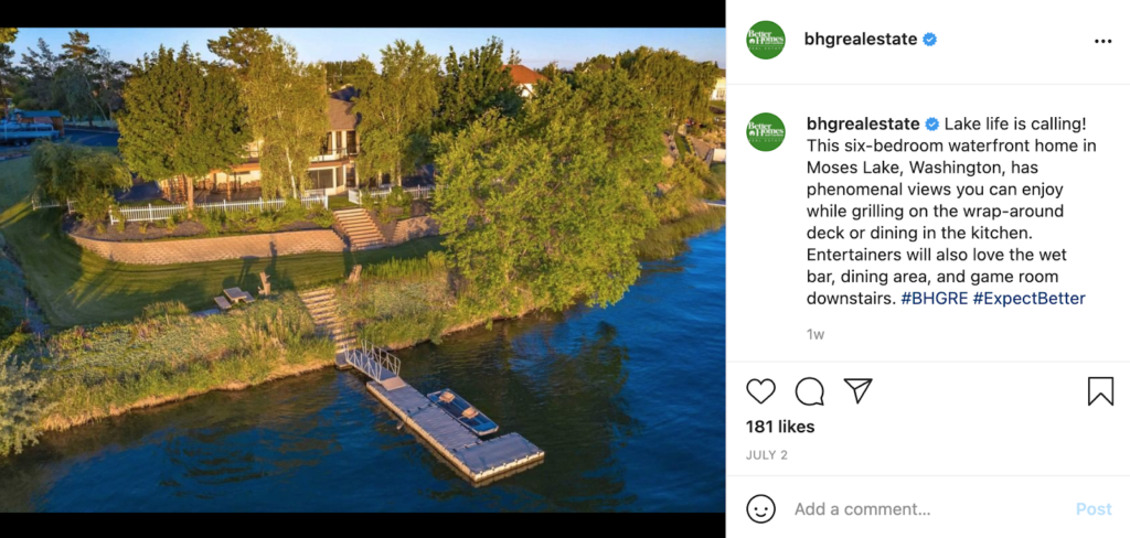 real estate social media neighbourhood tour example