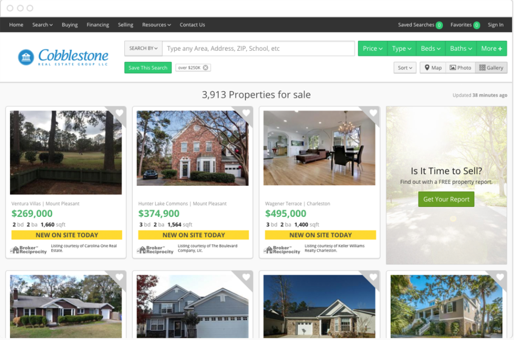 real estate software website example
